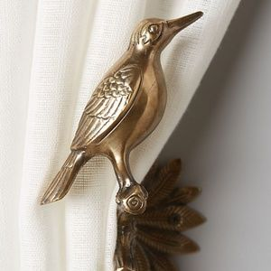 Anthropologie Gilded Aviary Curtain Tieback